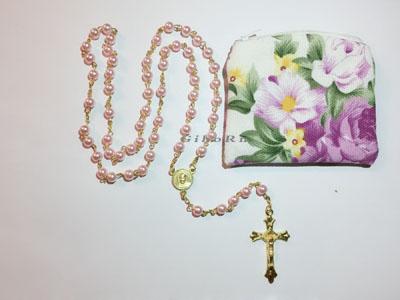 Pink Plastic Rosaries 350301